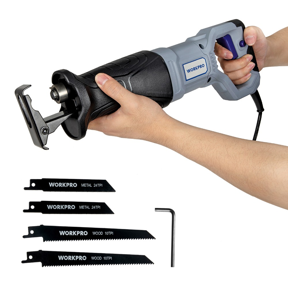 Image 2 - WORKPRO Electric Saw Reciprocating Saw for Wood Metal Cutting DIY Power Saws with Saw Blades-in Electric Saws from Tools on