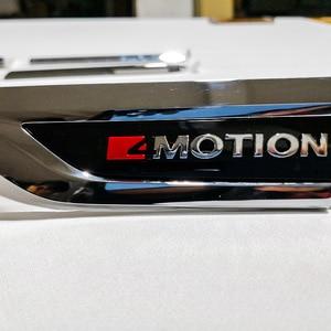 Image 5 - 4 Motion 4Motion 4X4 original door Side Wing Fender Emblem Badge sticker Trim for 2016 2017 2018 VW Tiguan mk2