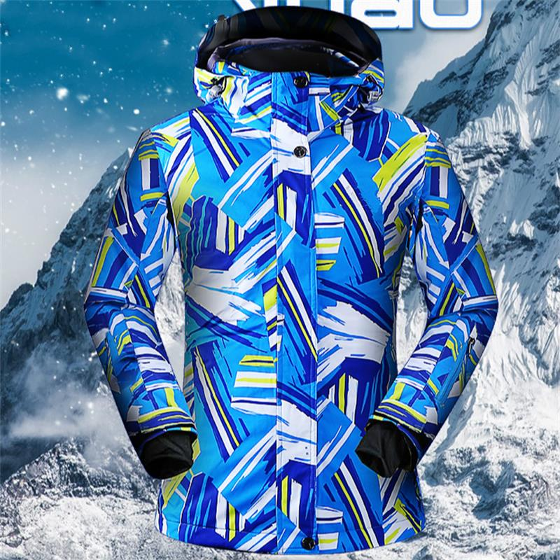 SUPER vente femmes vestes de Ski imperméable respirant femmes manteau de Ski hiver épais chaud extérieur alpinisme thermique matériel de Ski - 4