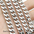 9mm*55cm Cuban Curb Chain Stainless steel Necklace Link Silver Color High Quality Never Fade LN297
