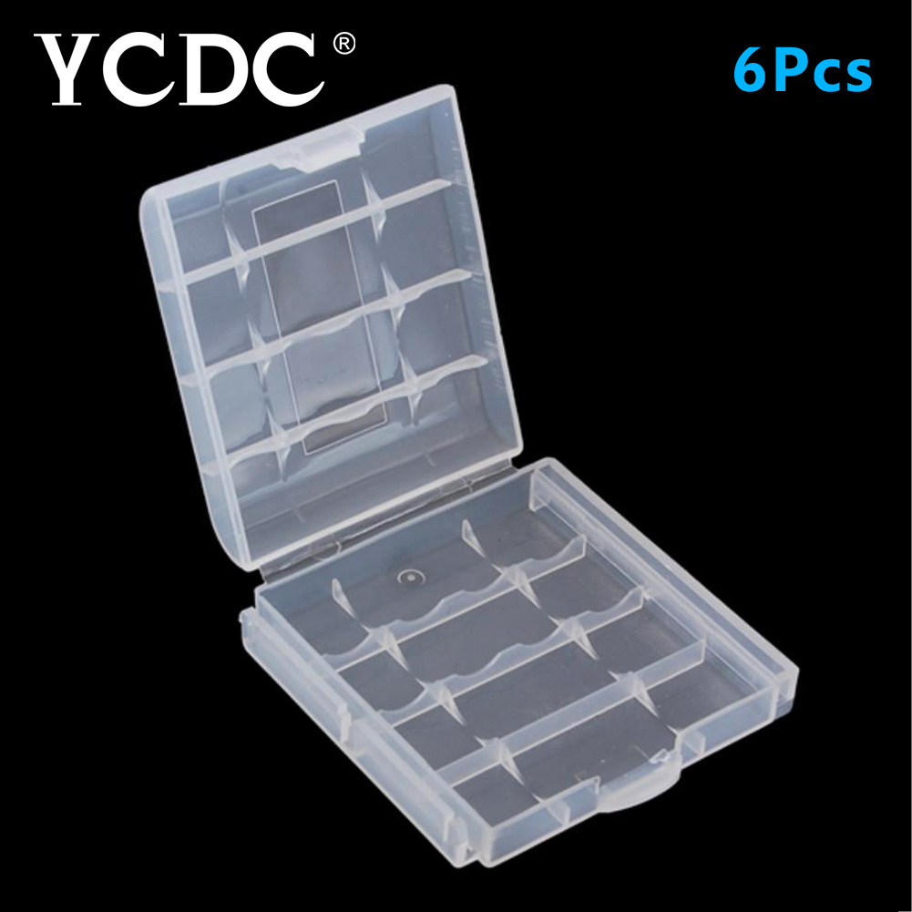 Buy YCDC 6pcs AA / AAA Battery Accumulator Storage Box Hard Bag for Remote control car Rechargeable Batteries 14500 10440 Case for $2.91 in AliExpress store