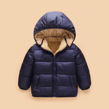 Baby Boys Jacket 2018 New Winter Toddler Girls Coat Kids Warm Hooded Outerwear Coats For Children Boys Clothes 2 3 4 5 6 7 Years 2017 winter new girls baby winter coat fake fure thickening hooded waist coats jacket children outerwear