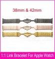 4 цветов ссылка браслет для Apple , часы 42 мм 38 мм сделаны из нержавеющей стали 316L с 1:1 оригинальный бабочка закрытие ремешок для часов