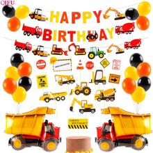 Construction Vehicle Birthday Party Decorations Kids Decor Plate Supplies