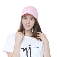 The New Male And Female Baseball Cap In Summer Solid Color Light Board Blank Copper Buckle