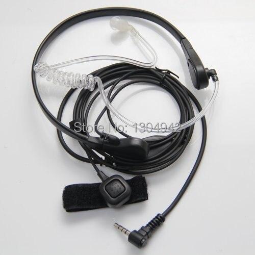 Throat Mic Microphone Covert Acoustic Tube Earpiece Headset for Yaesu Vertex VX 3R 5R 210 210A