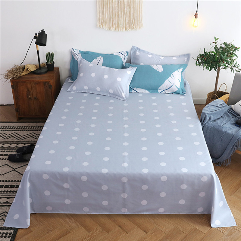 Image 5 - Four Piece Quilt Cover, Full Size Pillowcase With Fallen Leaves Sky Blue motifs infused with modern concepts  fitted sheet set-in Bedding Sets from Home & Garden