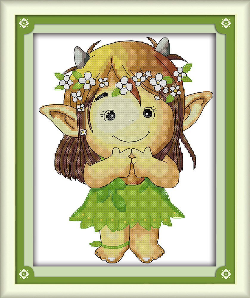 Forest Spirit Printed Cross Stitch Dmc Embroidery Floss Kits For