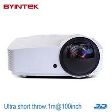 BYINTEK 6000ANSI Projector BD517UST USB HDMI 1080p full HD 3D Ultra short throw focus Daylight Cinema DLP Proyector beamer