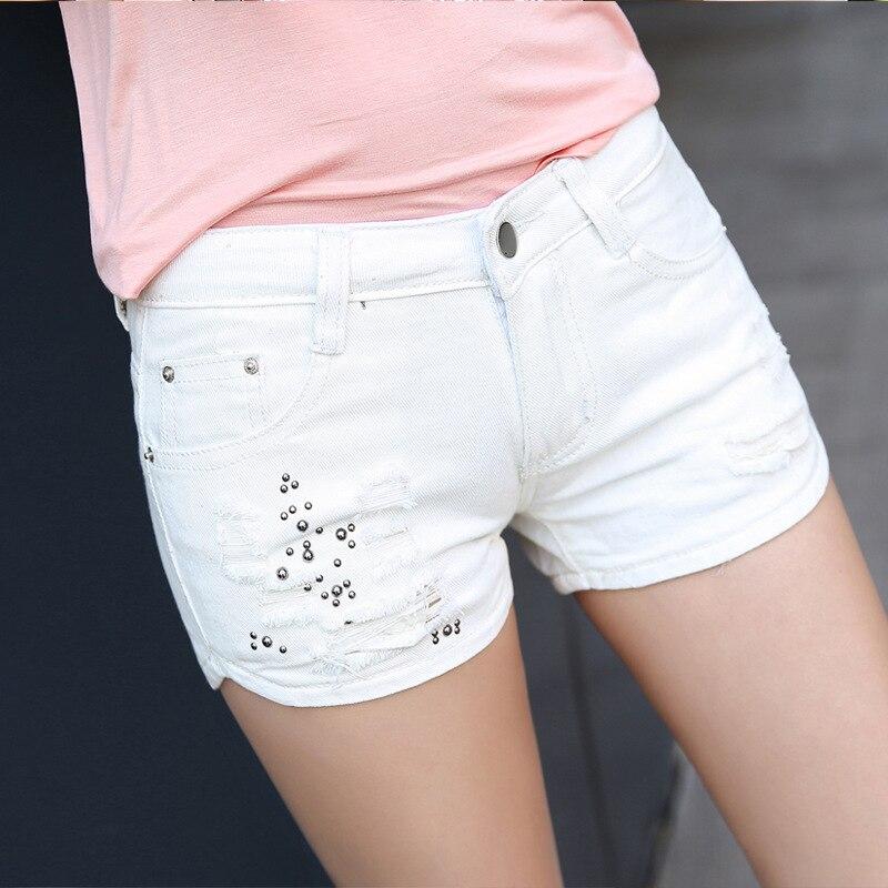 Short jean blanc avec paillettes pour l& ...