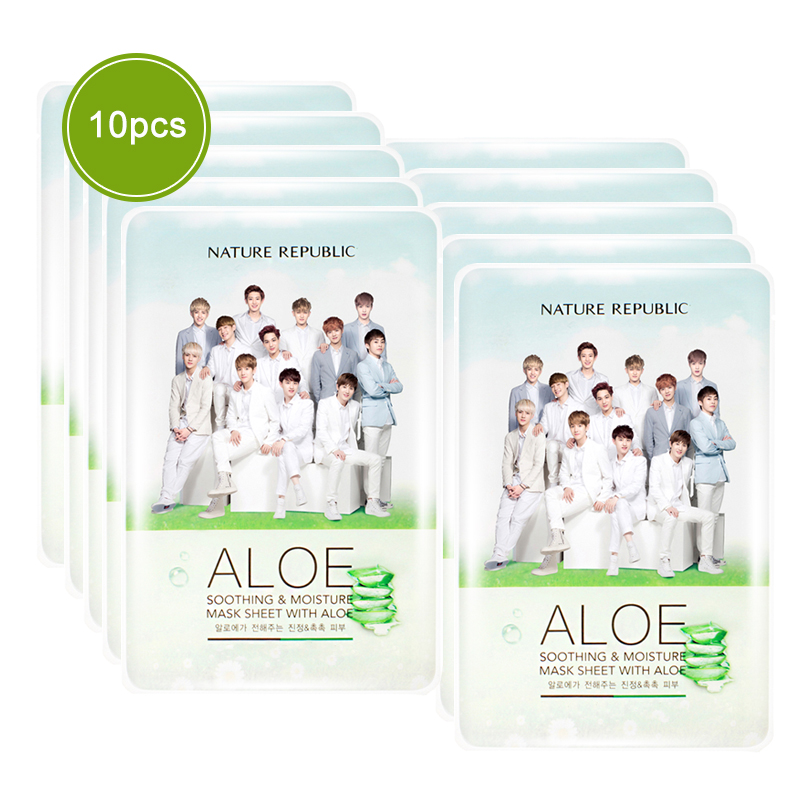 Made in Korean Not Have Alcohol Nature Republic Sheet Mask EXO Face Mask Moisturizing Oil Control Whitening Facial MaskMade in Korean Not Have Alcohol Nature Republic Sheet Mask EXO Face Mask Moisturizing Oil Control Whitening Facial Mask