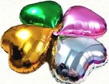 Абрикосовые 18 дюймовые большие шаровары в форме сердца цвета металлик 18 дюймовые воздушные шары из фольги, вечерние шары для свадебного укр...