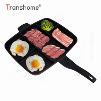 Transhome Frying Pan 5 in 1 Magic Grill Pan Master Pan Non Stick Divided Grill Pan Fry Oven Skillet Cookware Kitchen Accessories