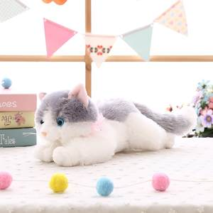 Stuffed Toys Lovely Simulation Animal Doll Plush Lazy Sleeping Cats Plush Appease Toy Home Decorations