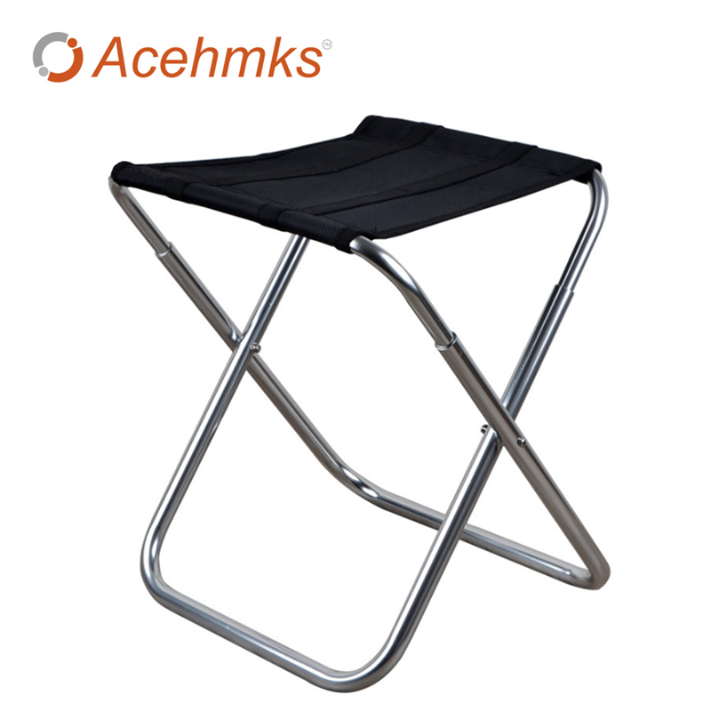 Outdoor Aluminum Alloy Folding Leisure Big Chair For Picnic And Hiking Portable Folding Chair Stool bamboo bamboo portable folding stool have small bench wooden fishing outdoor folding stool campstool train