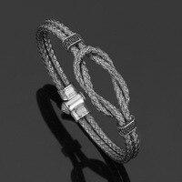 David Kabel Customed Length Men Wrap Wire Braided Sailor Cord Bracelet New Braided Infinity Knot Bracelets