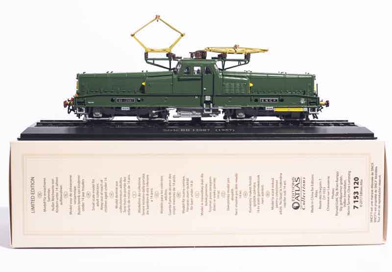 ATLAS EDITIONS 1:87 Serie BB 12087 (1957) COLLECTIONS LIMITED EDITION TRAIN MODEL Plastic static Collection for Christmas Gift