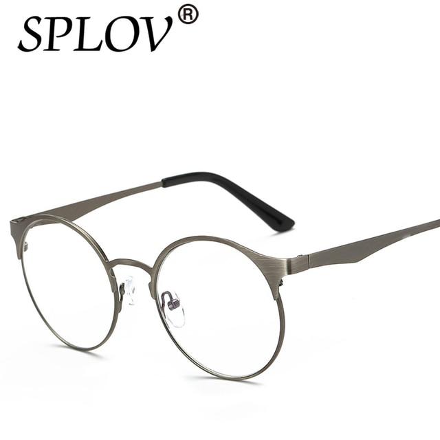 ef305b91906fa Media Metal Retro lente Nerd marcos gafas moda hombres mujeres anteojos  Vintage gafas marco diseñador de