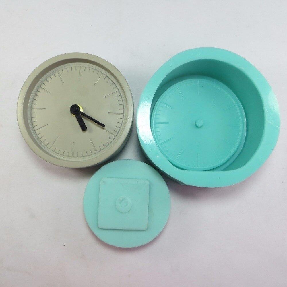 Przy SN0012 3d horloge moule (un lot 2 pièces) silicone ciment béton moule en Silicone main-made résine moule en argile décoration d'intérieur moules
