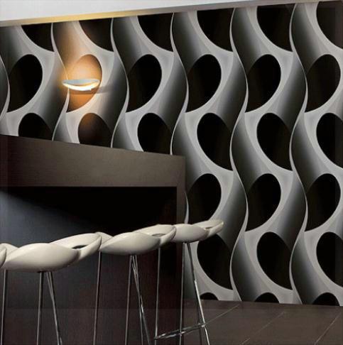 Abstract 3D geometric wallpaper pvc grey/black wallpaper modern design background wall wallpaper ...
