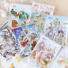 цена на 12pack/lot Lovely Animals Summer Series Stickers Kawaii Diary Deco Scrapbooking Planner Paper Stickers Children's Sticker