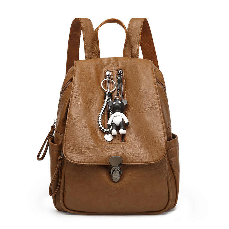 dc5b4d5591 2018 new Genuine cow skin leather women casual small packet preppy style  girls rucksacks female shopping