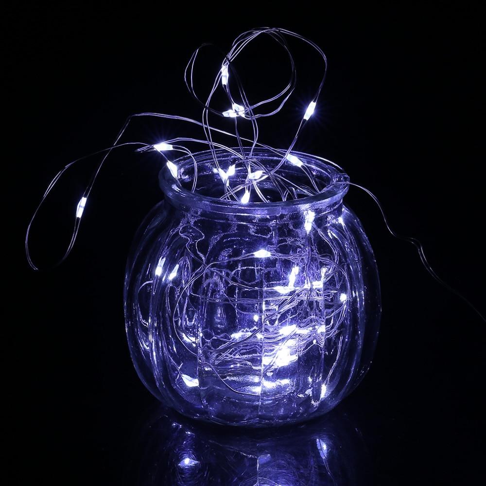 ICOCO 30 LED Silber Draht Girlande Lichterkette IP66 Wasserdichte ...