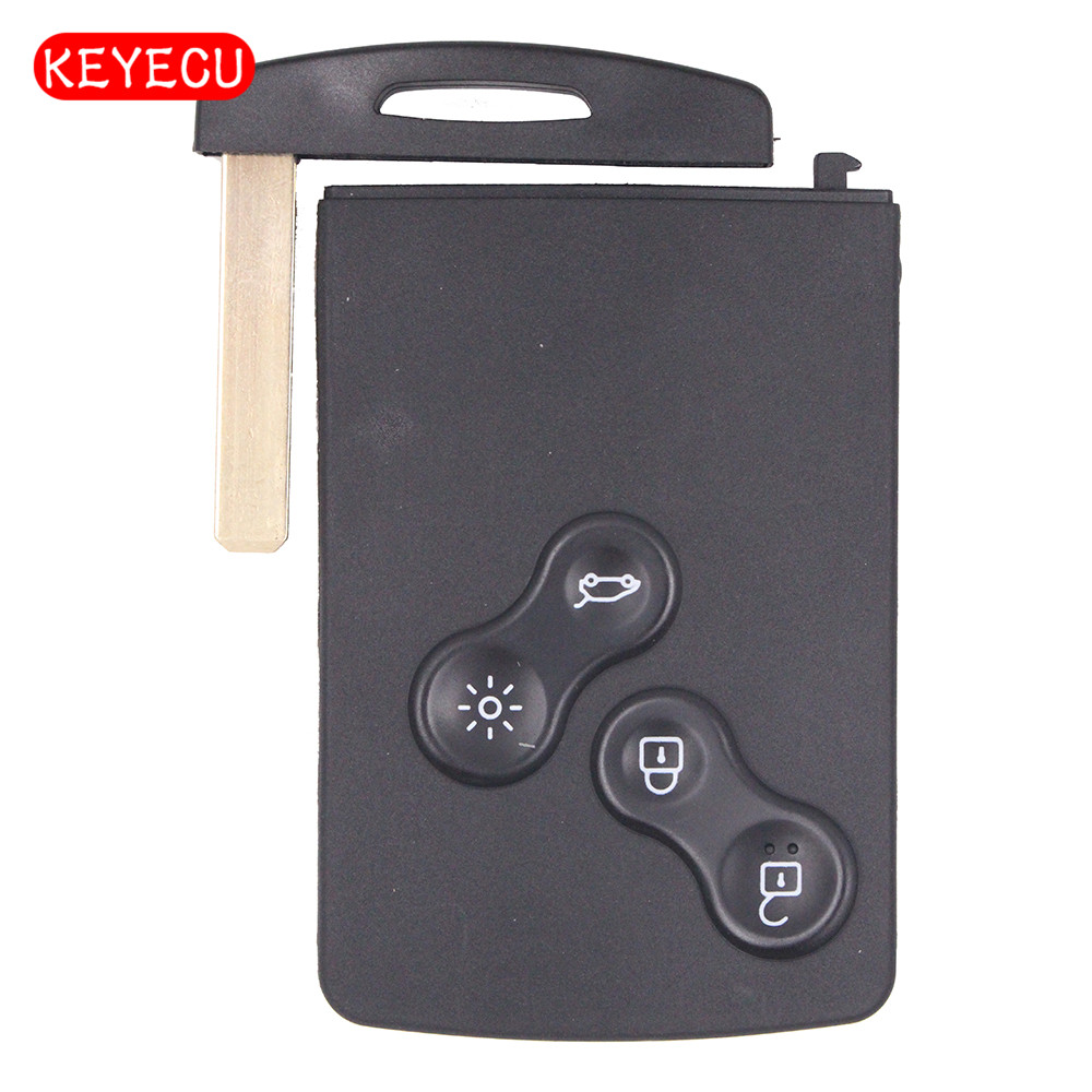 Keyecu Smart Remote Car <font><b>Key</b></font> Fob 4 Button 433MHz PCF7952 for Renault 2009-2014 Megane III