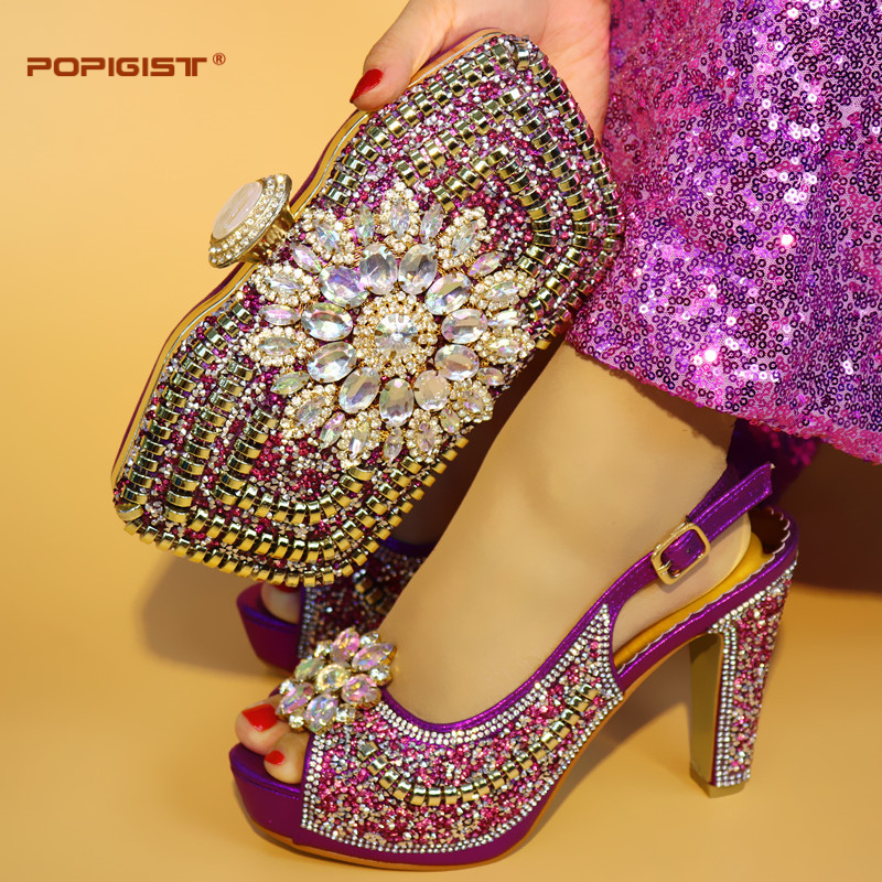 blue Pierres De Black purple Or Et Pour Cuir Ensemble Assorti Mariage Italiennes En Avec Couleur Chaussures Parti Femmes Pu Africain gold Sac xwHzqCa