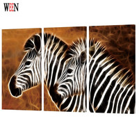 WEEN HD Printed Horse Wall Pictures With Framed Directly Hang Canvas Paintings Art 3Pcs Animal Poster