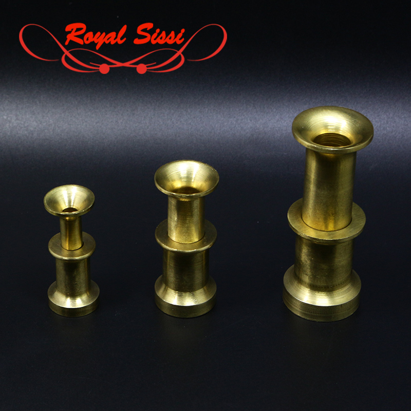 Royal Sissi 3sizes Hefty Brass Hair Stacker Well-appointed Brass Material Stacker For Calf Body Hair&calf Tail Fly Tying Tools