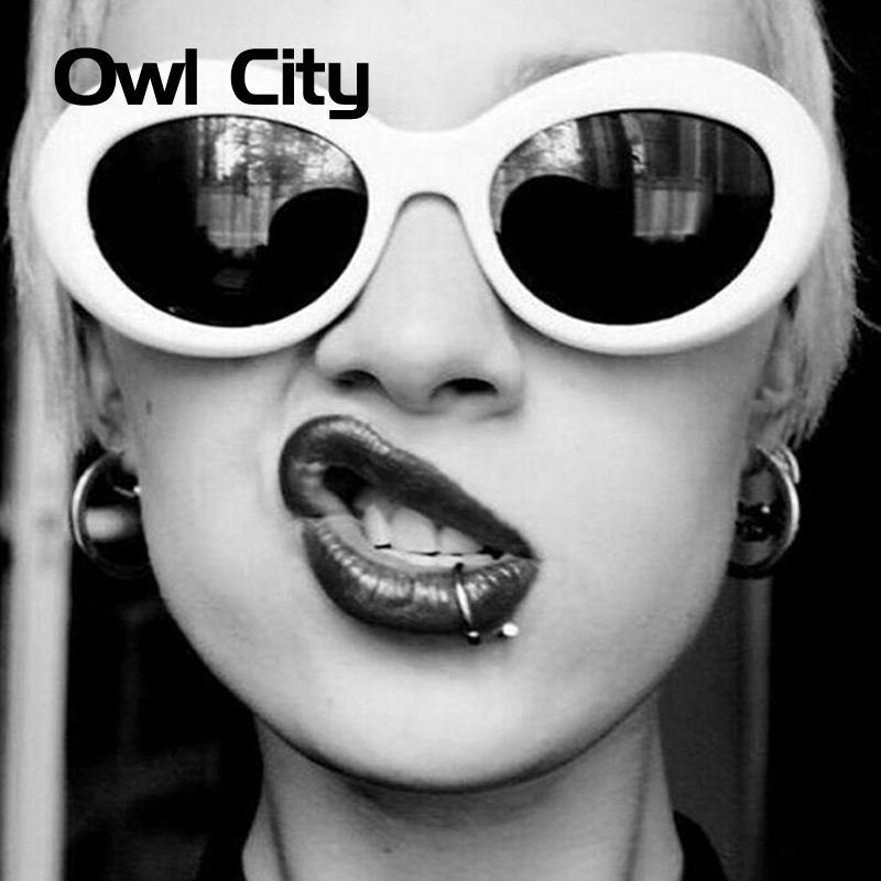 Vintage Oval Sunglasses Women Brand Designer Retro Sunglass Man Fashion Female Male Eyewear Sun glass kurt cobain glasses