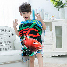 New Baby Bath Towel Children Hooded Polyester Beach Towel Baby Boys Girls Mermaid Shark Pattern Cartoon Bath Towel for Baby все цены