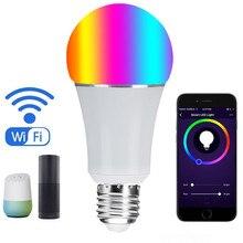Умный дом Светодиодная лампа Wi-Fi свет приложения connect Alexa Google дома голосового управления E27 B22 RGB + CW затемнения светодиодные лампы Бесплатная доставка