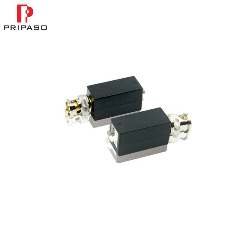 Pripaso 1 Pair 4K/8MP HD Video Balun CCTV HD Video Balun Press-fitting Terminal,1 Channel Passive HD Balun For TVI/CVI/AHD/CVBS
