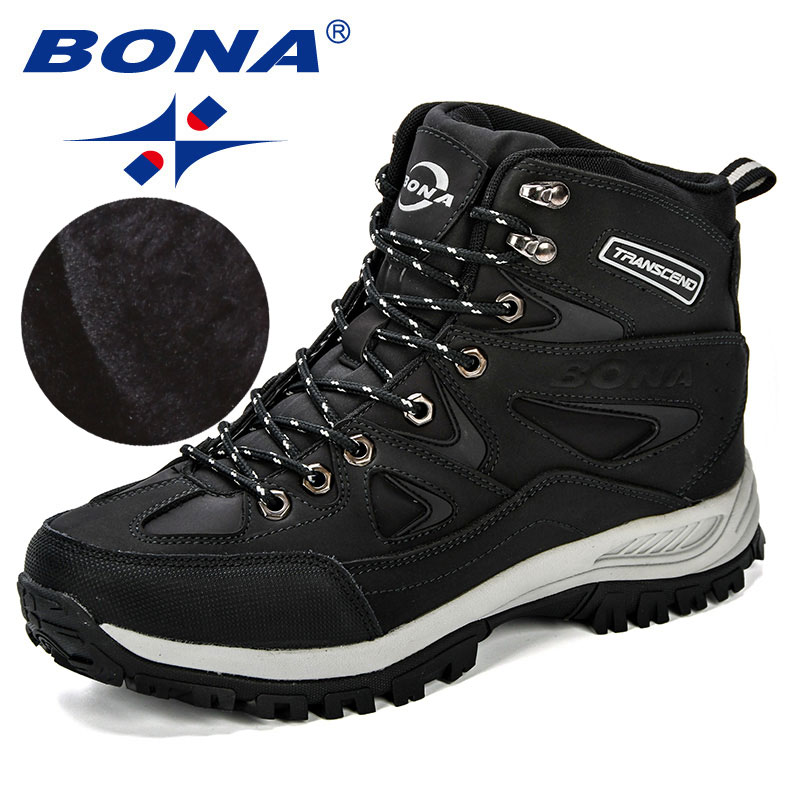 BONA New Design Classics Style Men Winter Boots Male Snow Ankle Boots Warm Casual Boots Comfortable