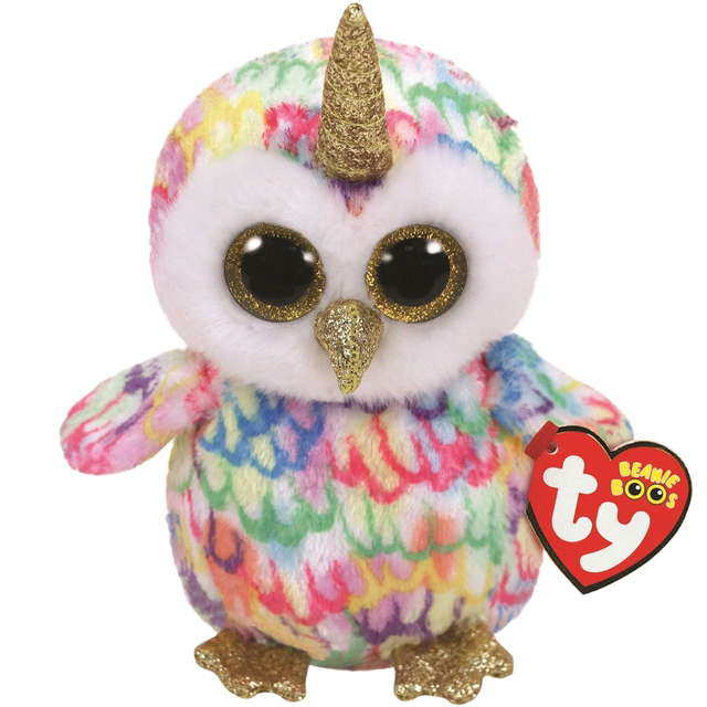 Ty Beanie Boos Enchanted the Owl Unicorn dog Plush Regular