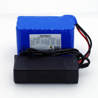VariCore 24V 6s 4A 6A 8A 10A 18650 battery 25.2V 12Ah Li ion battery for bicycle batteries 350W E bike 250W motor + Charger