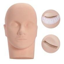Massage Mannequin Head Flat Eye Facial Eyelash Eyelash Extension Makeup Practice Cosmetic Model Professional Training Heads Tool
