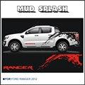 Mudslinger тело сзади хвост сторона графический винил для Ford ranger 2012 2013 2014 стикер
