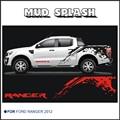 Mudslinger cuerpo trasera side gráfico de vinilo para Ford ranger 2012 2013 2014 etiqueta