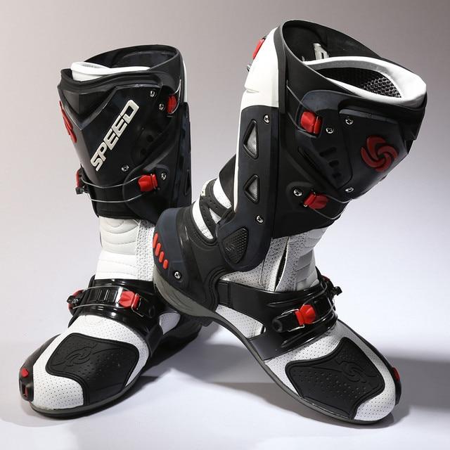 8dccc3a87e0 Botas de moto speed pro-biker hombres mujeres moto racing motocross moto  motociclista b1003 botas