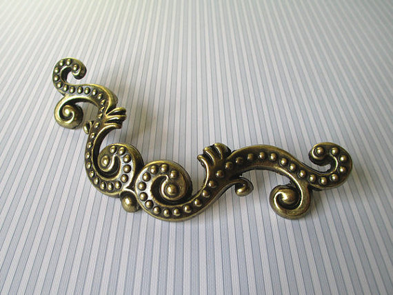 3 76 mm Dresser Pulls / Drawer Pulls Handles Knobs Octopus Antique Bronze / Kitchen Cabinet Door Handles Pull / Furniture dresser pulls drawer pull handles square kitchen cabinet decorative knobs antique bronze vintage style furniture hardware