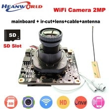 1080P WiFi Camera Wireless IP Camera Wifi HD 2.0MP 720P Onvif Security Camera Module with  Antenna SD Card Slot Audio Port