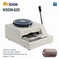 WSDM 62D Manual Dog Tag Embossor PVC Card Embossing Machine Letterpress Rotogravure Printing Machine Name Card