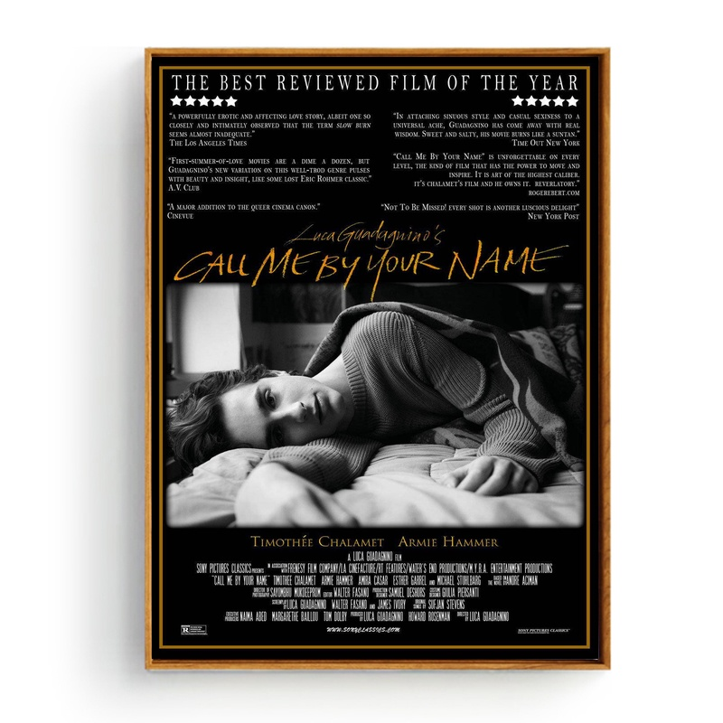 Call Me By Your Name Movie Poster Art Silk Home Decor 12x18