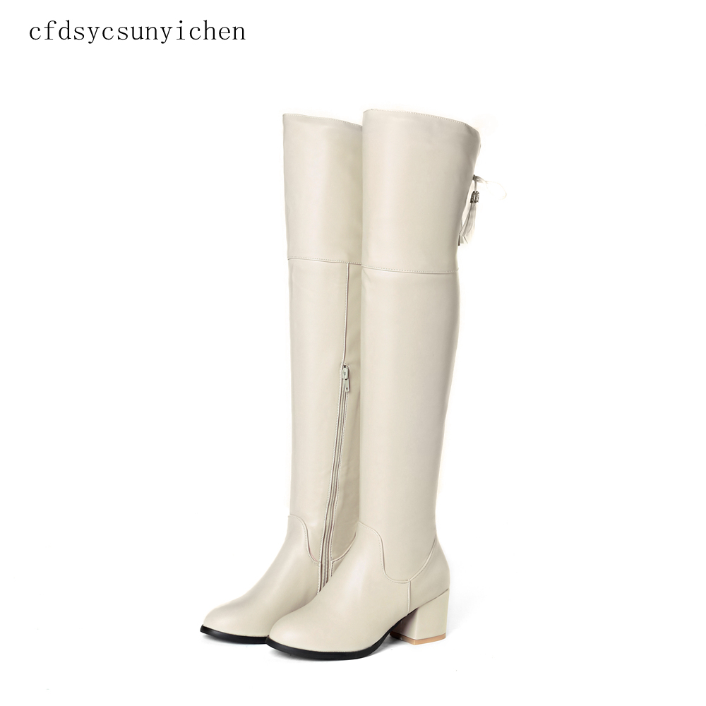 Brand New  Hot Sale Black Beige  Women Over-the- Knee High Boots Ladies Dress Shoes    BO-CFD-C8-63 Plus Big Size 11.5Brand New  Hot Sale Black Beige  Women Over-the- Knee High Boots Ladies Dress Shoes    BO-CFD-C8-63 Plus Big Size 11.5