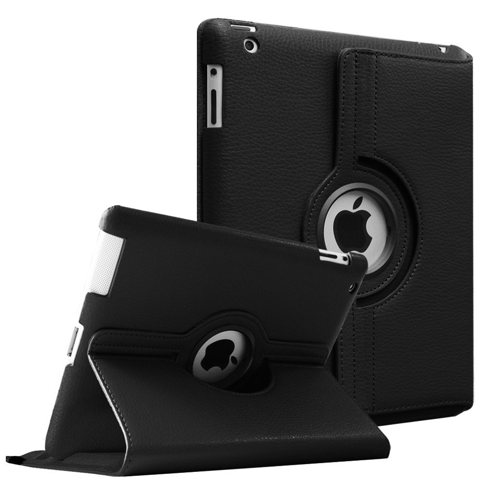 Case for Apple iPad 2 3 4,360 Rotation Flip PU Leather Case Stand Smart Case Cover for iPad 2 iPad 3 iPad 4 Tablet Funda Cases 360 degree rotation protective pu leather smart case for ipad mini black white page 3