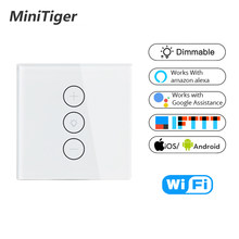 EU/US Tuya Smart Life WiFi Smart Dimmer Light Switch APP Remote Control Work with Amazon Alexa and Google Home IFTTT Smart Home(China)
