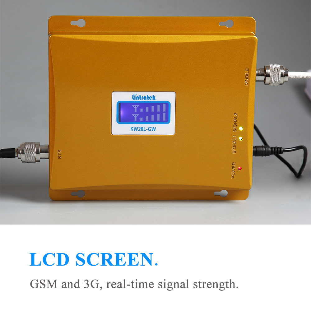 Image 4 - Powerful LCD 3G GSM Cellular Signal Booster Repeater 900MHz 2100MHz UMTS Mobile Cell Phone 3G Amplifier Kit Two Indoor Antenna @-in Signal Boosters from Cellphones & Telecommunications